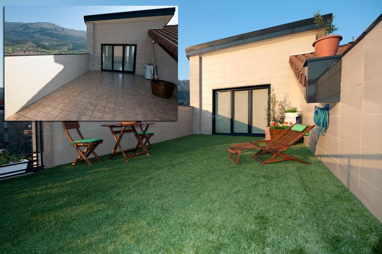 suelo para terraza césped
