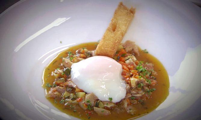 Receta de huevo a baja temperatura con oreja en cocina for Cocina baja temperatura thermomix