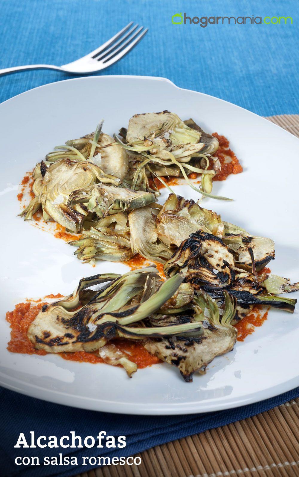 Alcachofas con salsa romesco