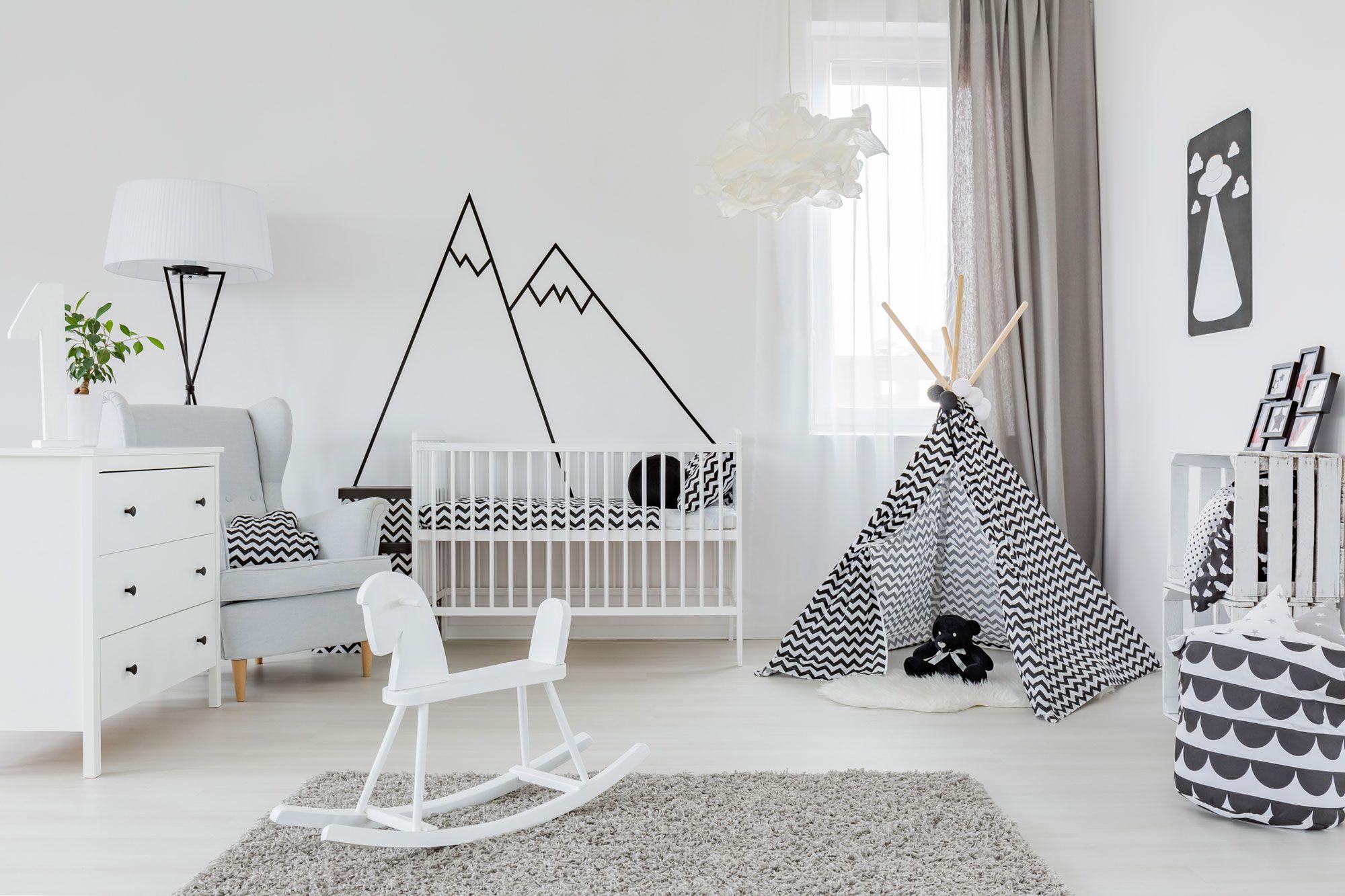 decoraci n infantil minimalista en blanco y negro hogarmania. Black Bedroom Furniture Sets. Home Design Ideas