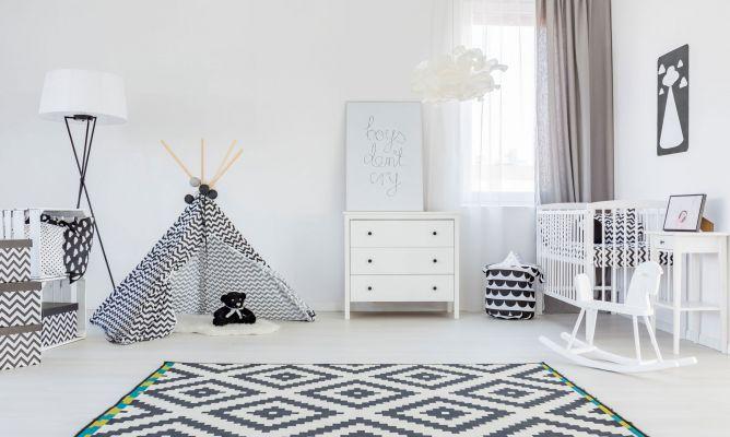 Decoraci n infantil minimalista en blanco y negro hogarmania for Dormitorio para padres en blanco y negro