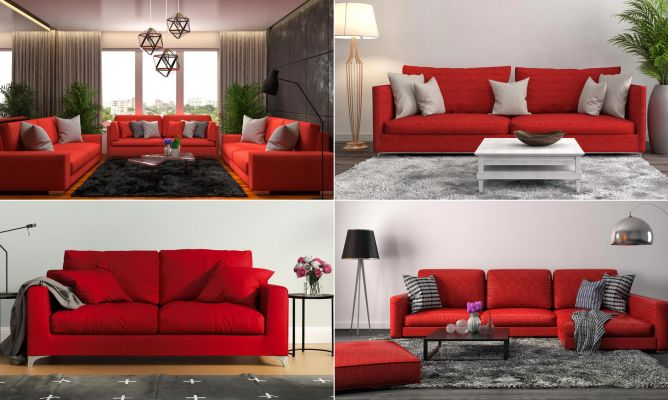 Combinar sof de color rojo hogarmania - Mueble salon rojo ...