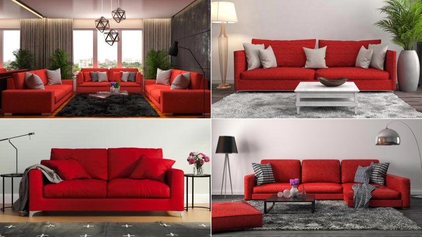 Combinar sof de color rojo Hogarmania