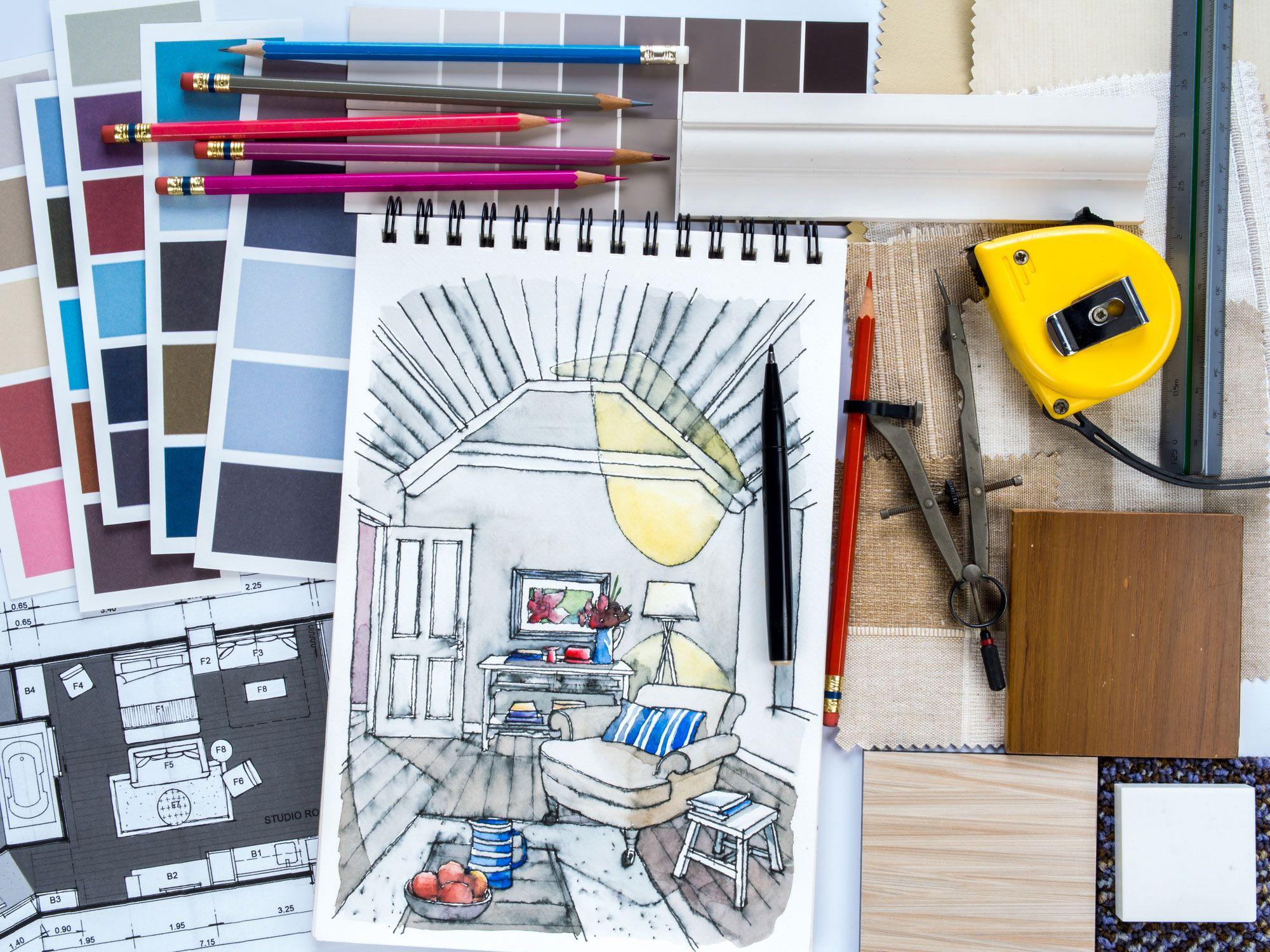 Elegir colores y destacar espacios