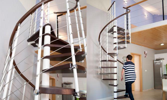 Como Hacer Una Escalera De Caracol Bricomania - Escaleras-de-caracol