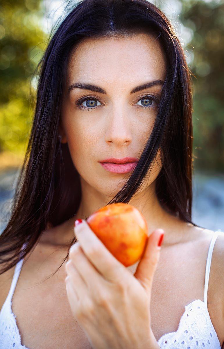 frutas belleza melocotón