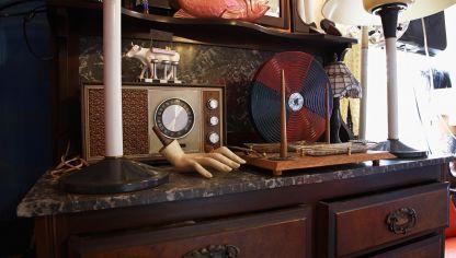 Mueble auxiliar de cocina estilo provenzal hogarmania - Muebles de estilo industrial ...