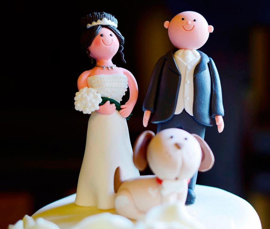 perros tarta bodas