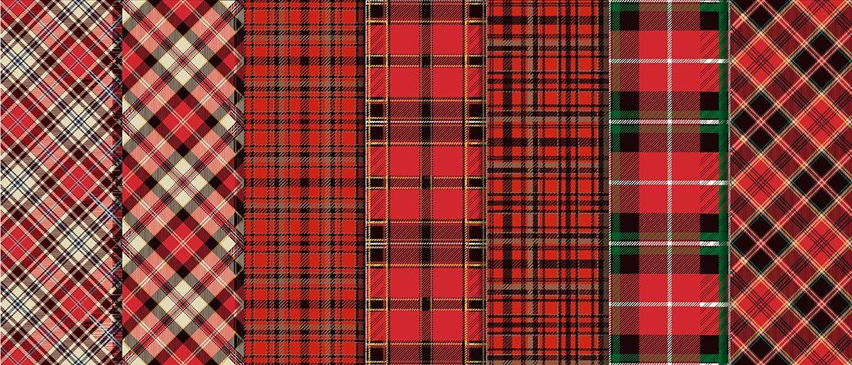 tartán diseño cuadros escoceses