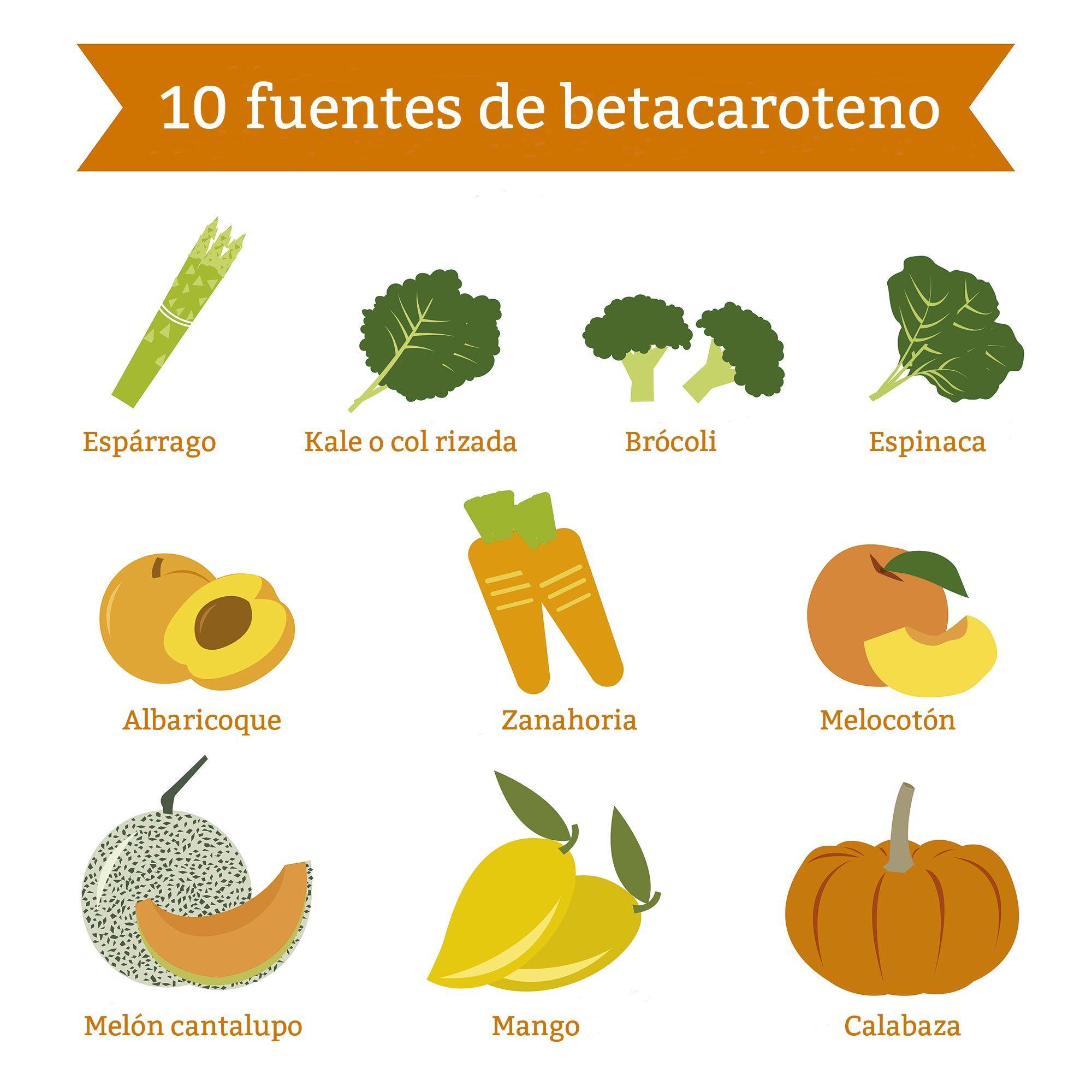 alimentos fuente betacaroteno