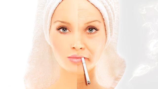 efectos tabaco piel