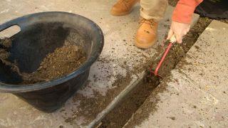 Relleno de junta de pavimento