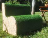 Cómo hacer un sillón de césped