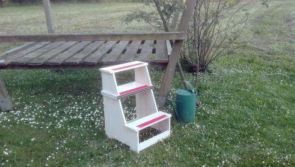 C mo hacer una silla escalera de madera bricoman a for Construir una escalera de jardin de madera