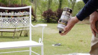 Pintar silla metálica