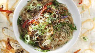 receta de wok de verduras con setas shitake