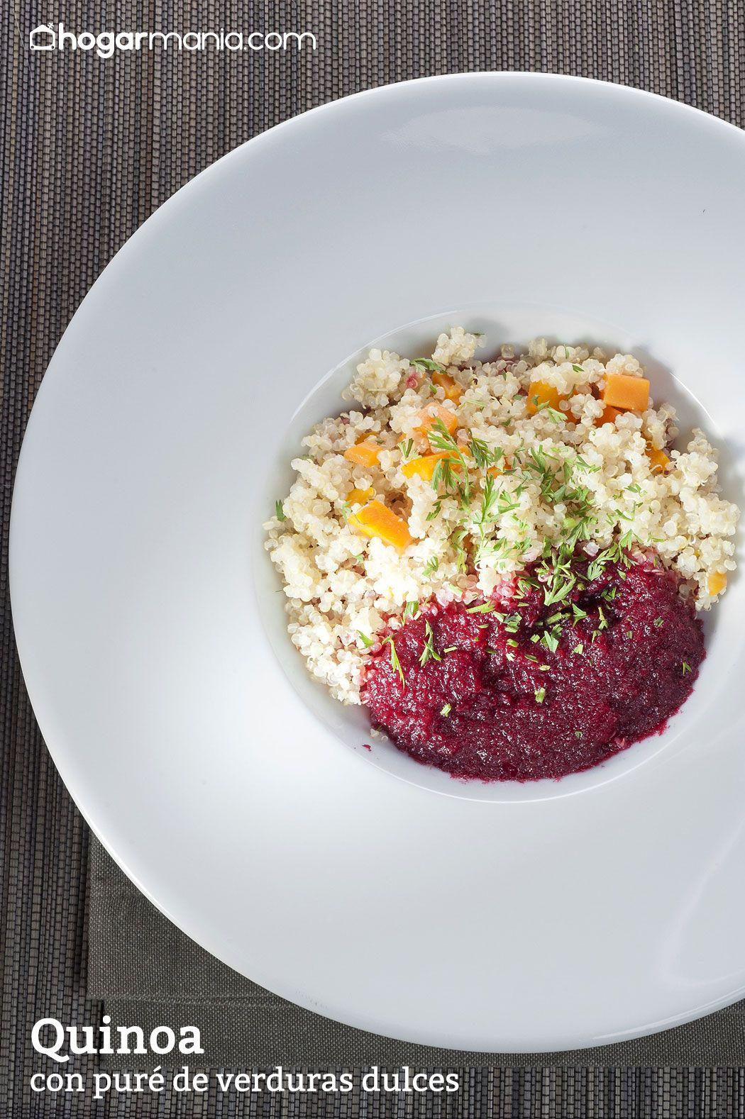 Quinoa con puré de verduras dulces