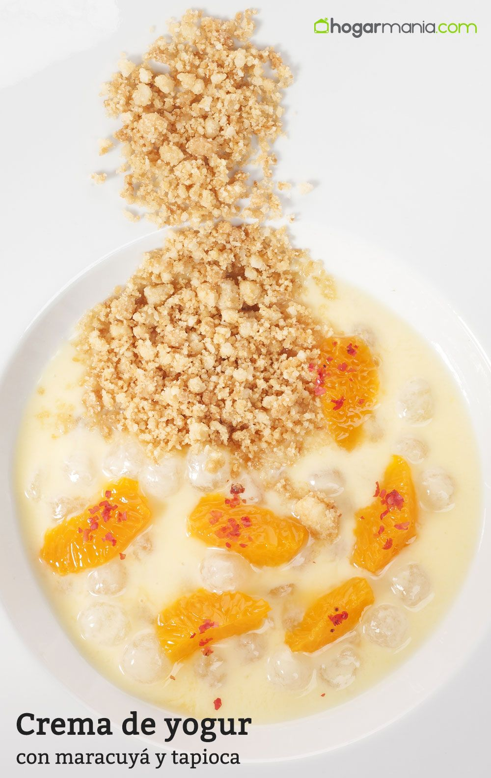 Crema de yogur con maracuyá y tapioca