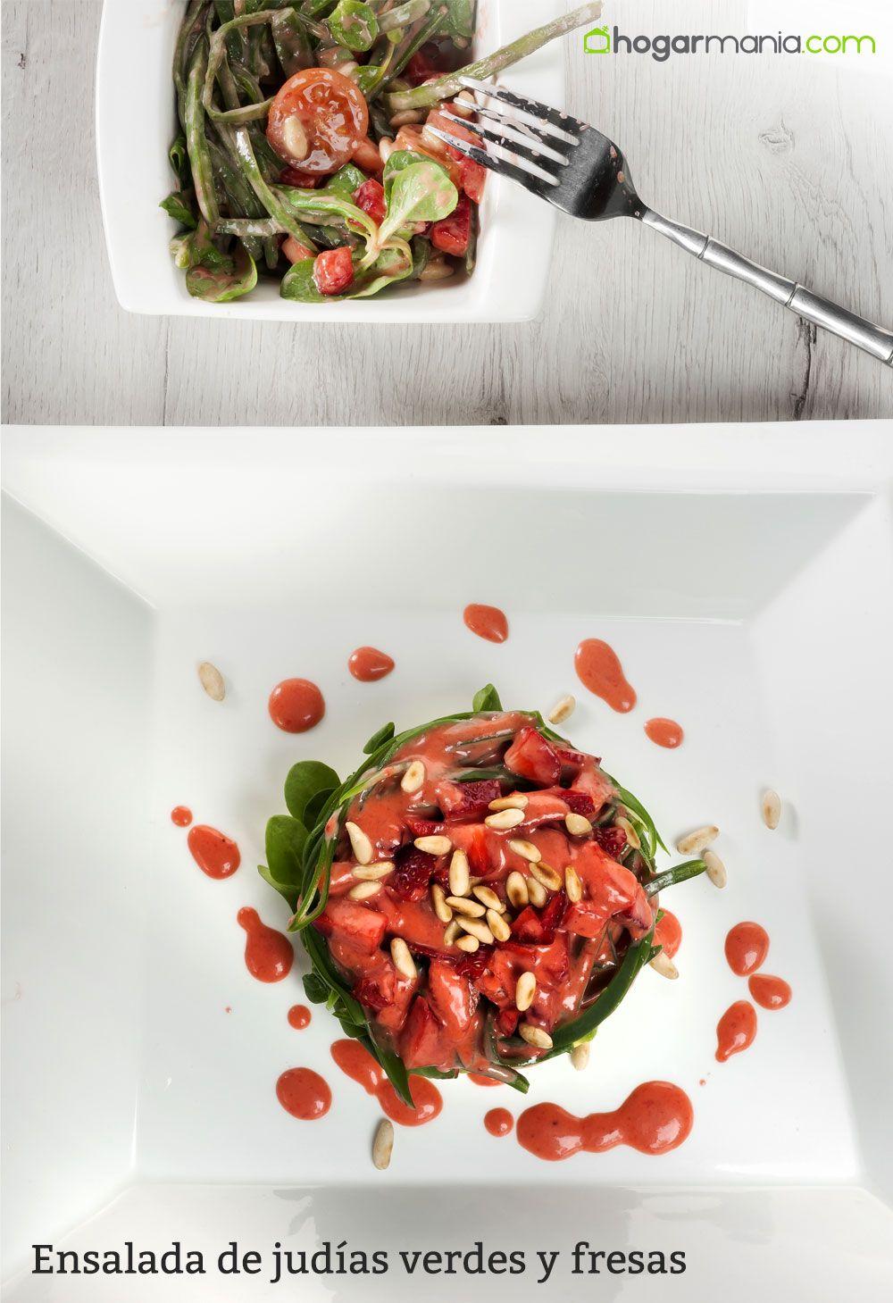Ensalada de judías verdes y fresas