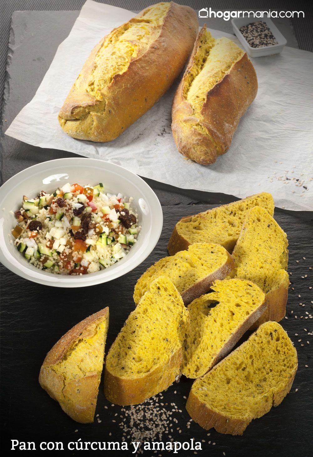 Pan con cúrcuma y amapola
