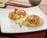 Tacos de gambas en tempura