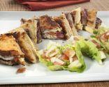 En familia: Sandwich tostado de jamón ibérico con ensalada