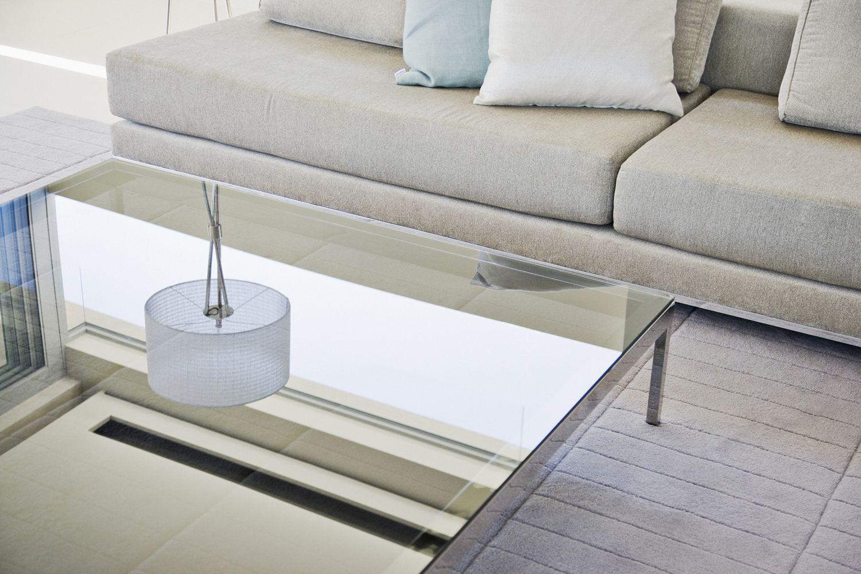 Cristal de la mesa rayado