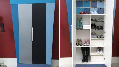 C mo hacer y decorar un armario para la plancha decogarden for Armarios zapateros con poco fondo
