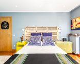 Dormitorio masculino amplio y luminoso