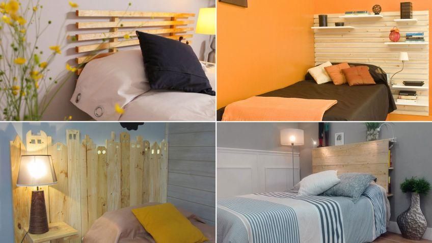 ideas para hacer cabeceros con listones de madera
