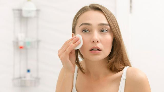 Limpieza facial algodones