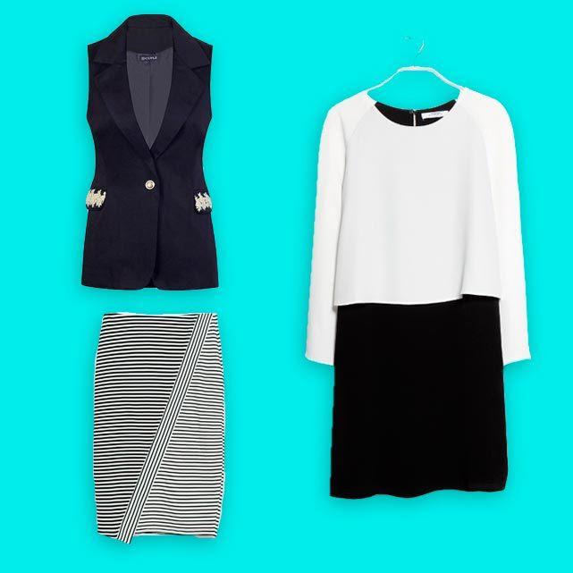 moda verano blanco y negro
