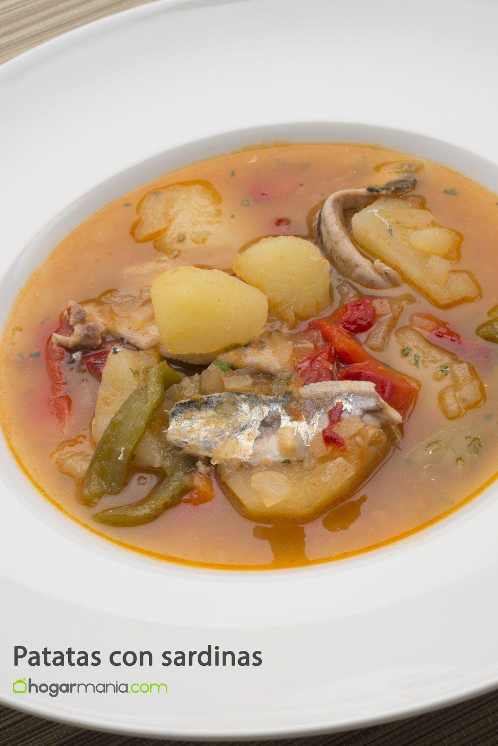 Receta de patatas con sardinas karlos argui ano - Como cocinar sardinas ...