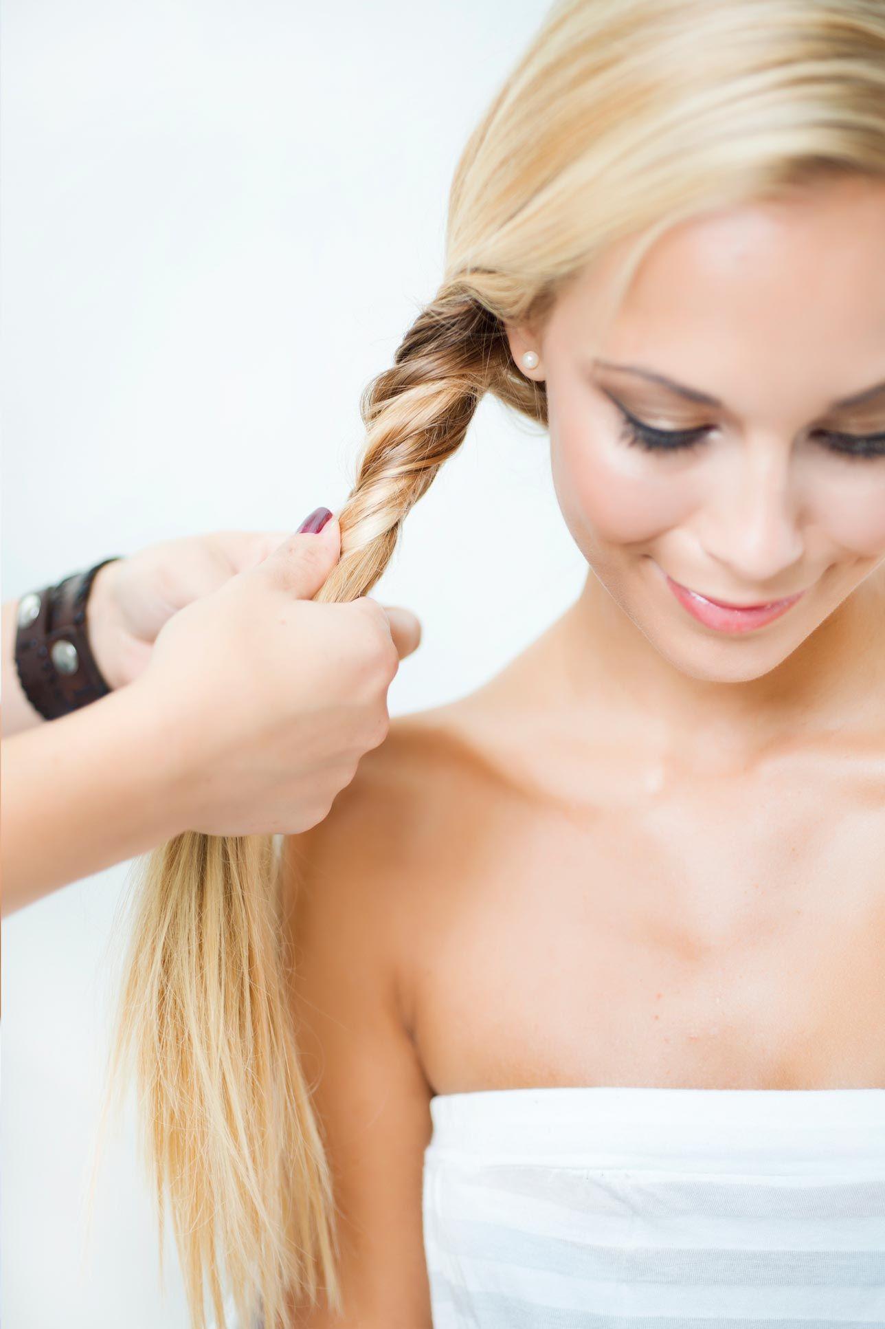 peinados trenza espiga paso 2