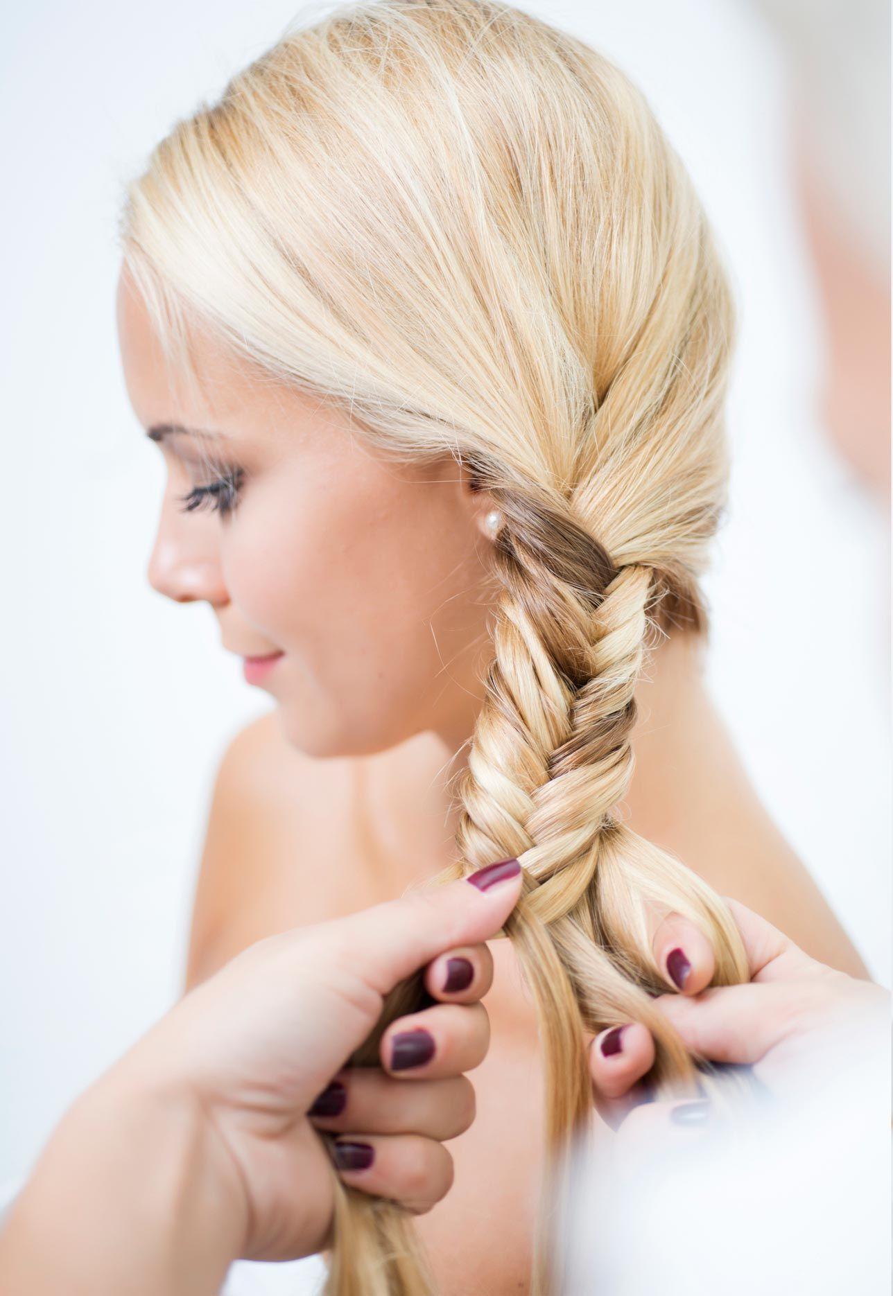 peinados trenza espiga paso 3
