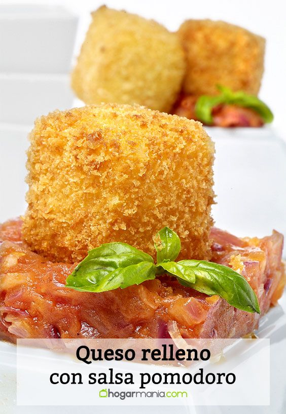 Receta de Queso relleno con salsa pomodoro