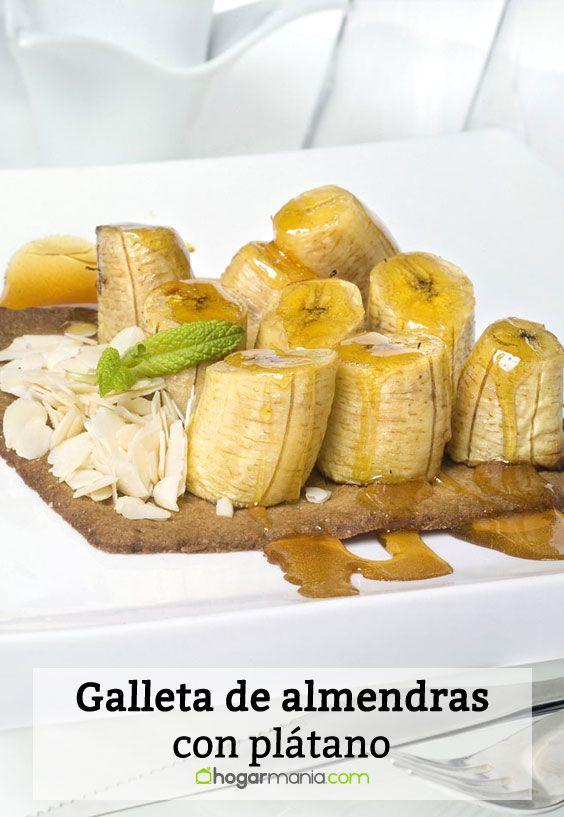 Receta de Galleta de almendras con plátano