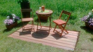 Solera de exterior de madera