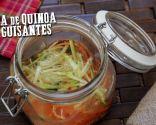 Sopa de quinoa con guisantes