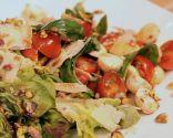 Ensalada capresse con pistachos