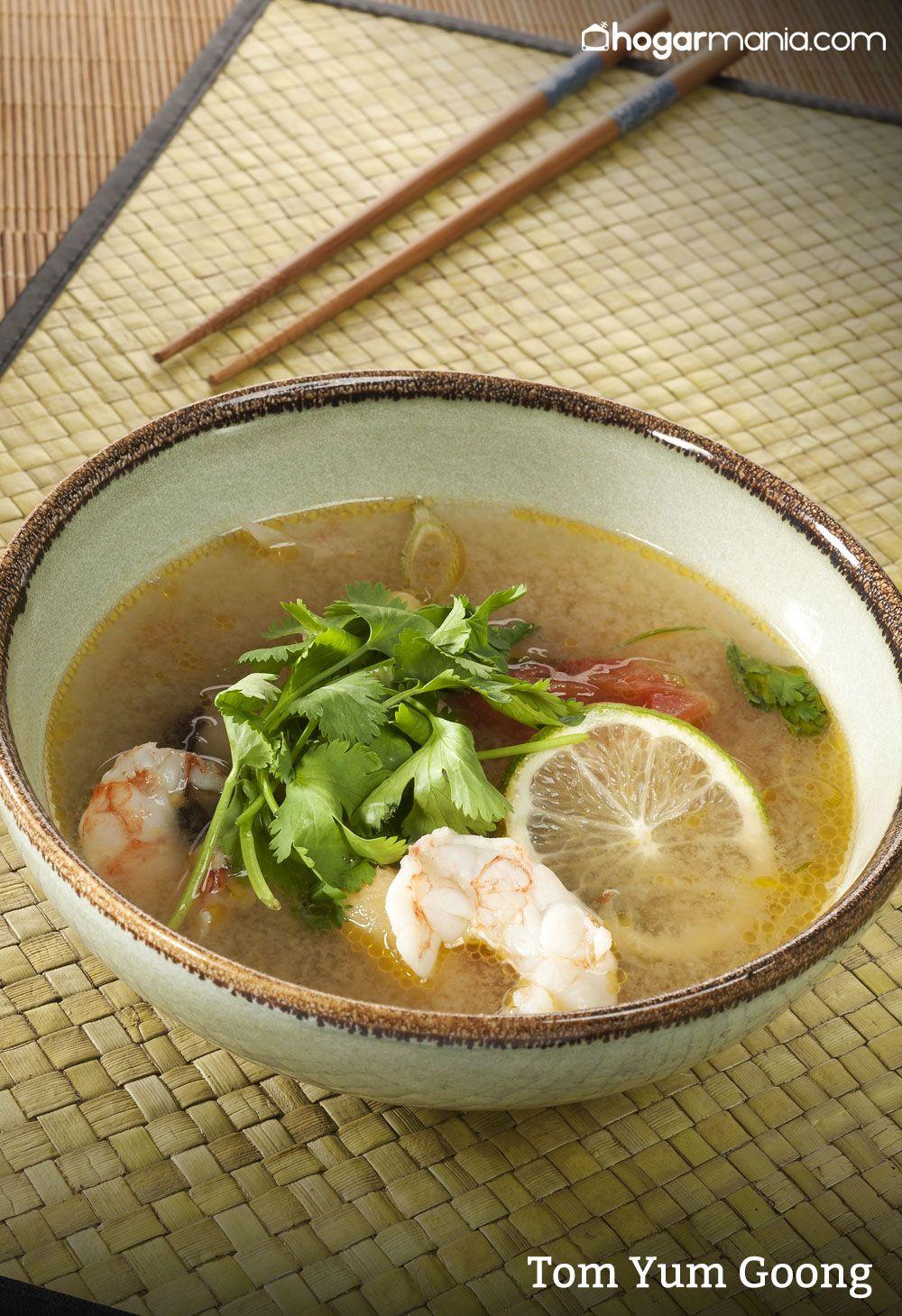 Tom yum goong, sopa con gambas tailandesa