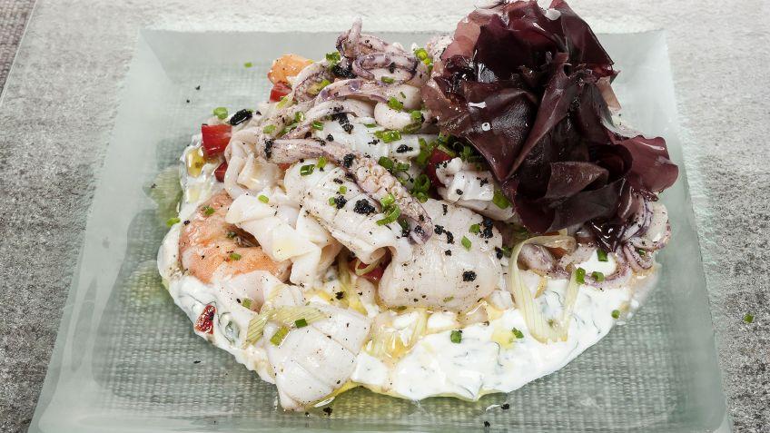 receta de salpic n de mar con chutney de menta y yogur guty carvajal rh hogarmania com