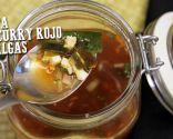 Sopa de curry rojo y algas