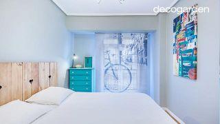 Estor personalizado para un dormitorio nórdico y minimalista