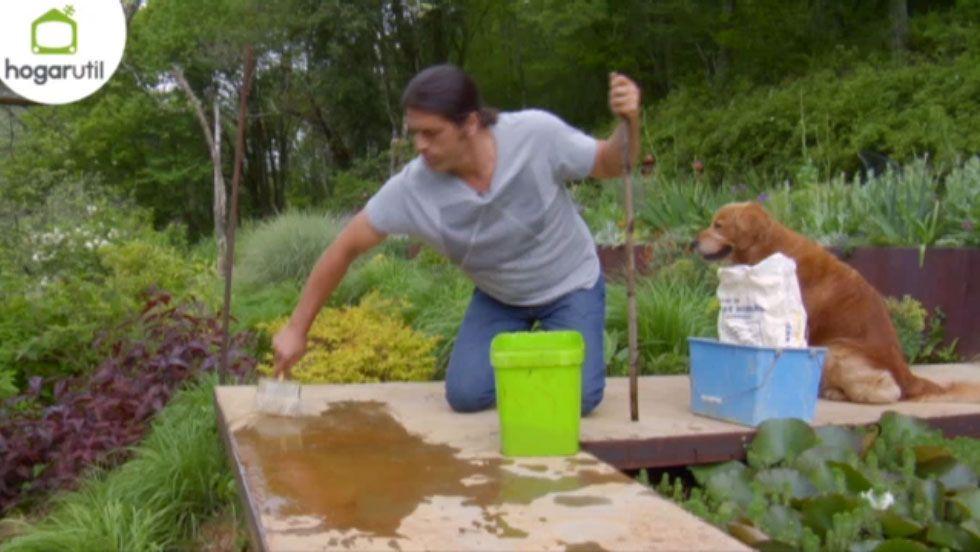 Efecto óxido para decorar jardines - Aplicación