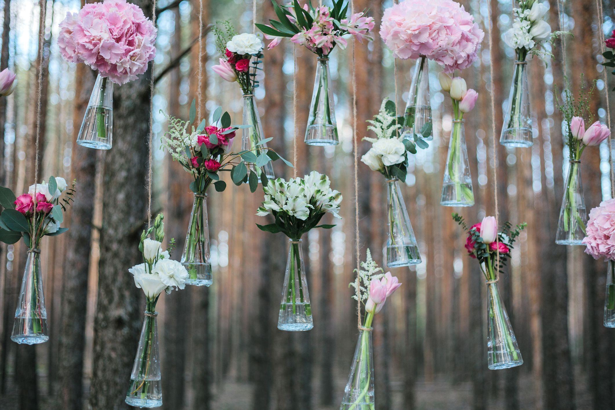 Flores colgadas