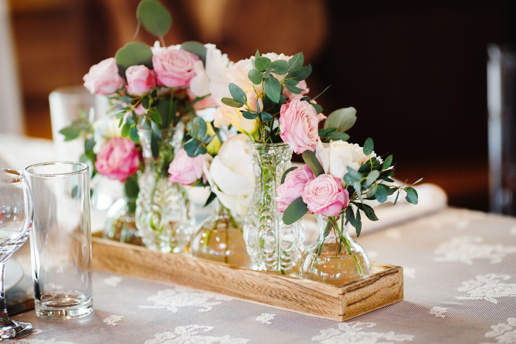 Flores en vasos