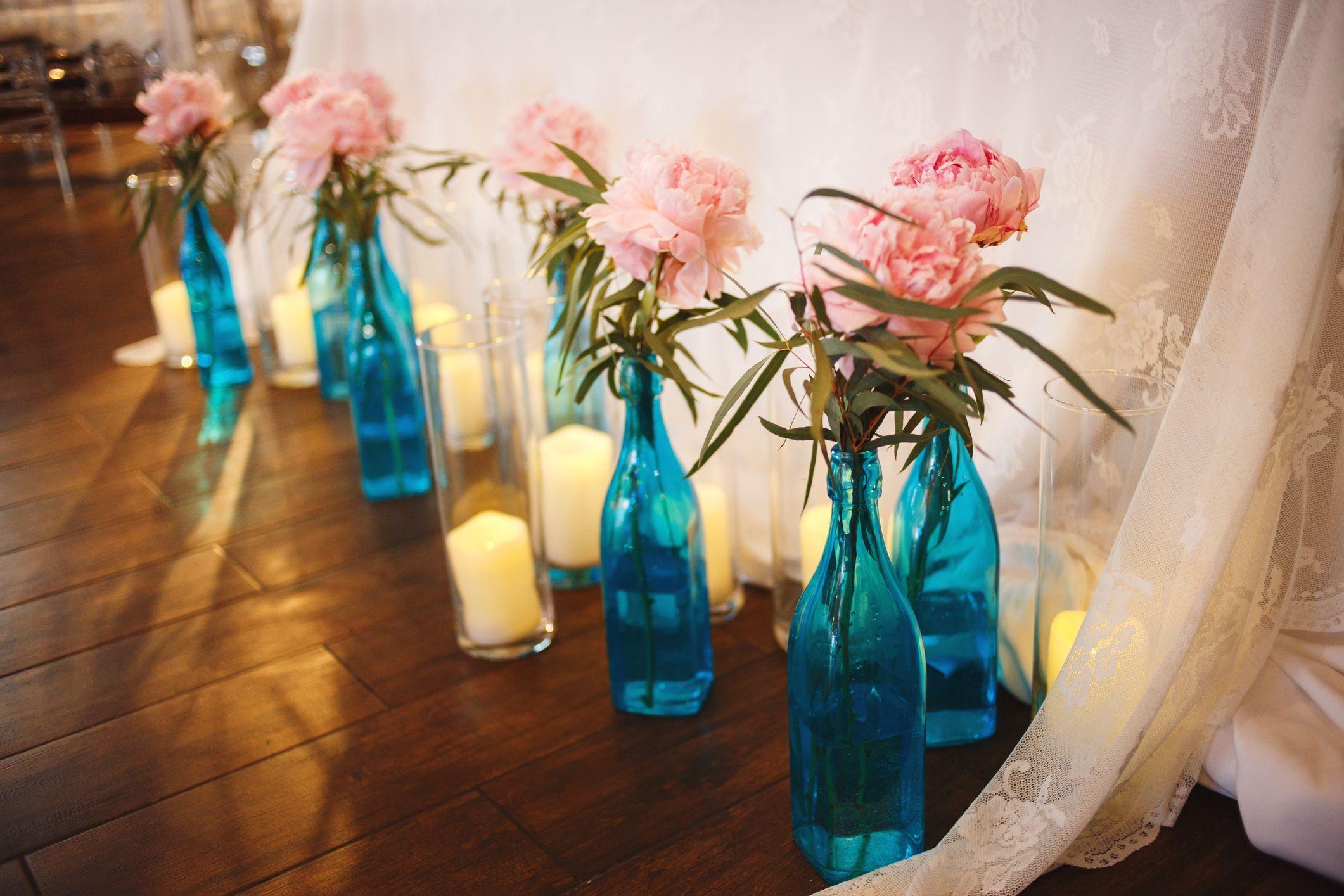 flores en botellas