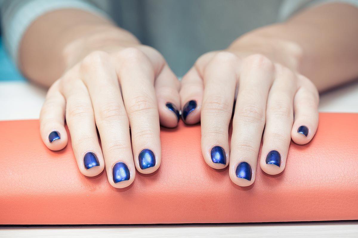 manicura colores azules