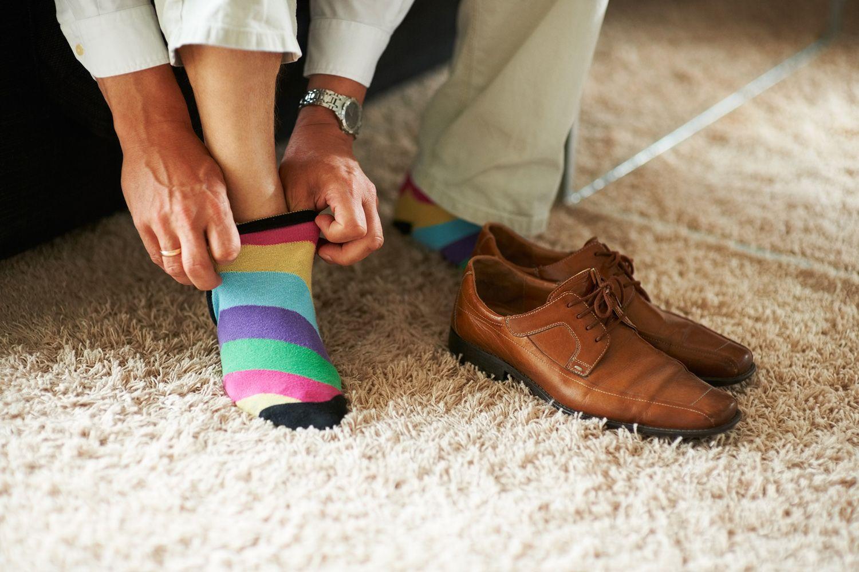 Zapatos con calcetines
